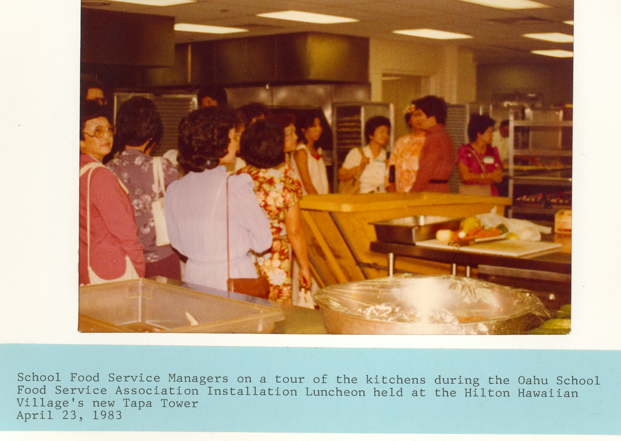 Hilton Hawaiian Village Kitchens 1983