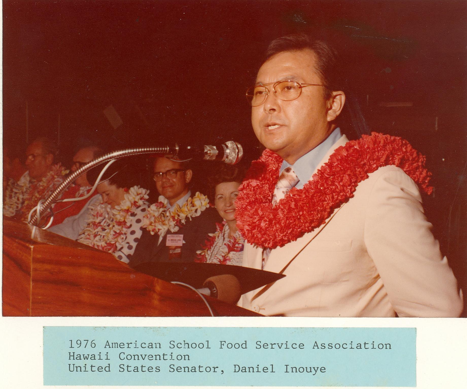 U.S. Senator Daniel Inouye 1976