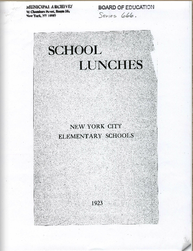 School Lunches - New York