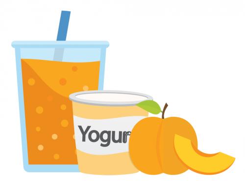 Peach and Yogurt Smoothie USDA Recipe for Schools