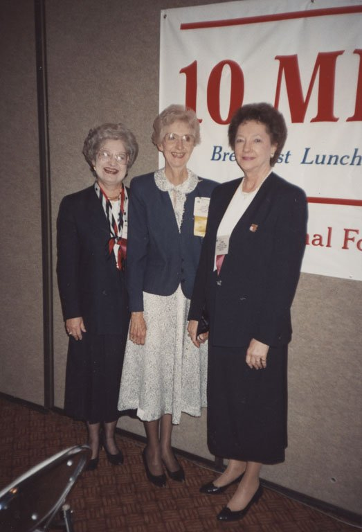 Dr. Josephine Martin with Dr. Jeanette Phillips, Associate Executive Director, and Dr. Lavern Hellums, Director of Education and Training, NFSMI, at the 1991 ASFSA ANC in Las Vegas