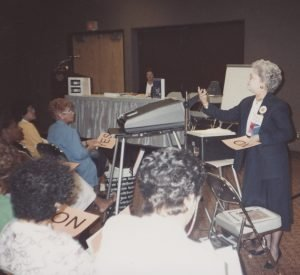 Dr. Jeanette Phillips delivers the 10 Minute BLT at the ASFSA ANC in Las Vegas, Nevada, July 23, 1991.